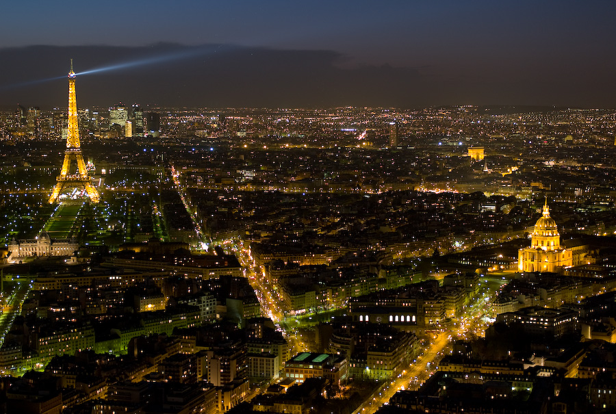Eiffel Tower At Night From Montparnasse