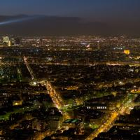 Eiffel Tower At Night From Montparnasse by Mark Gowin
