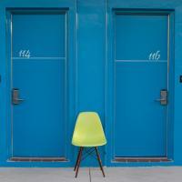 Post Card Inn - Blue Doors by Mark Gowin in Regular Member Gallery