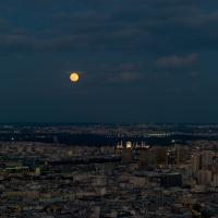 Moonrise Over Paris by Mark Gowin
