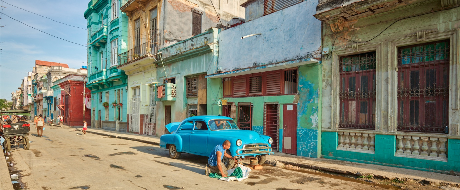 Man and Car in Cuba by lance_schad in lance_schad