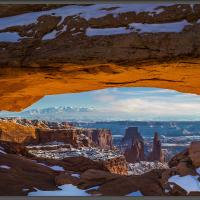 Mesa Arch Winter by Wayne Fox