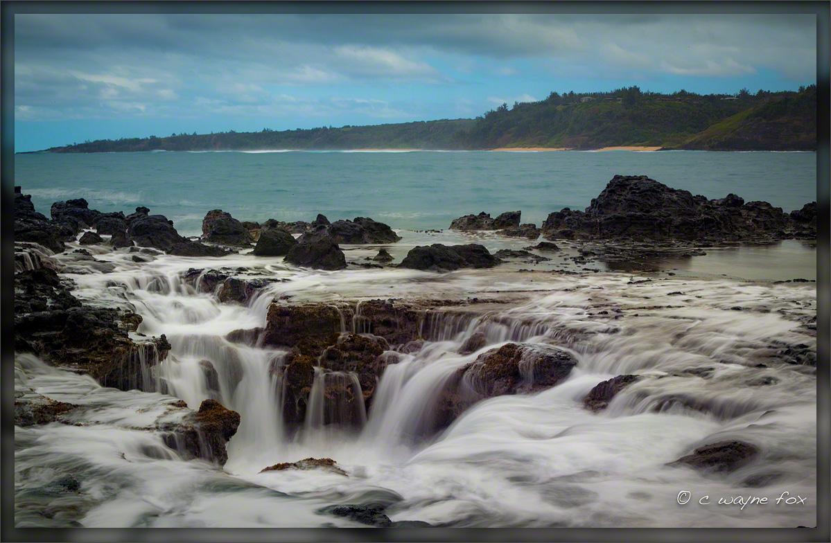 Kilauea Bay Blow hole by Wayne Fox in Regular Member Gallery
