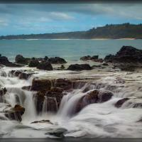Kilauea Bay Blow hole by Wayne Fox