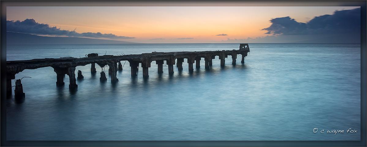 Old Lahaina Pier by Wayne Fox in Wayne Fox