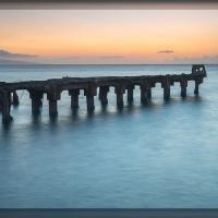 Old Lahaina Pier by Wayne Fox