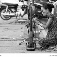 Bicycle Repair by Jorgen Udvang in Jorgen Udvang
