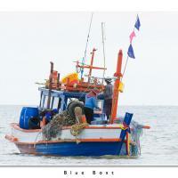Blue Boat by Jorgen Udvang