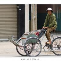 Man And Cyclo by Jorgen Udvang in Jorgen Udvang
