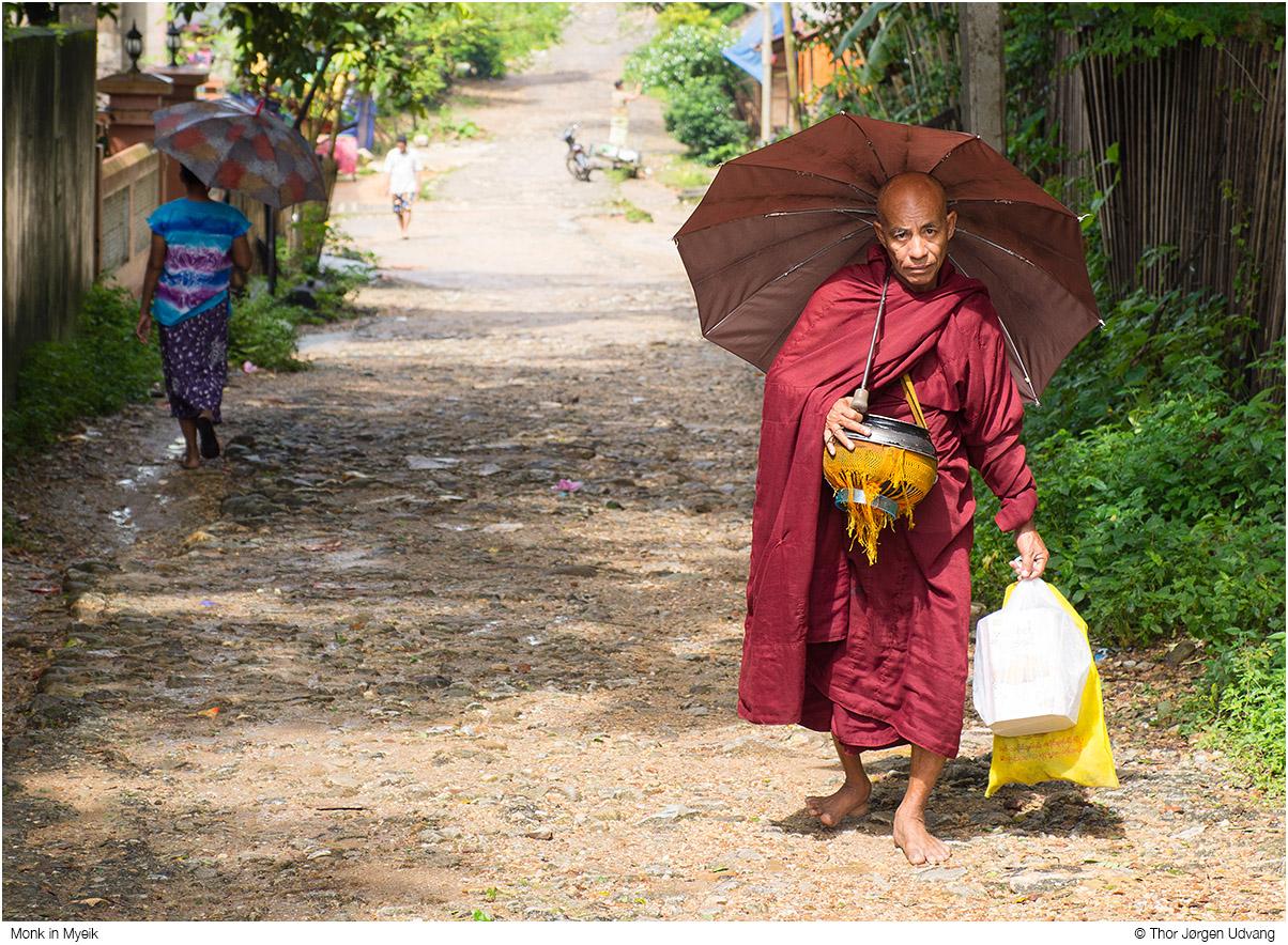 Monk In Myeik by Jorgen Udvang in Jorgen Udvang