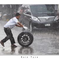 Rain Tyre by Jorgen Udvang in Jorgen Udvang