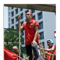 Red Barricade by Jorgen Udvang