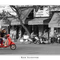 Red Scooter by Jorgen Udvang