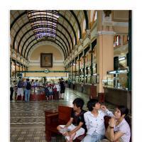 Saigon Central Post Office by Jorgen Udvang in Jorgen Udvang