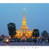 That Luang At Night by Jorgen Udvang