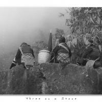 Three On A Stone by Jorgen Udvang in Vietnam on film