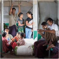 Yangon Commuters by Jorgen Udvang in Jorgen Udvang
