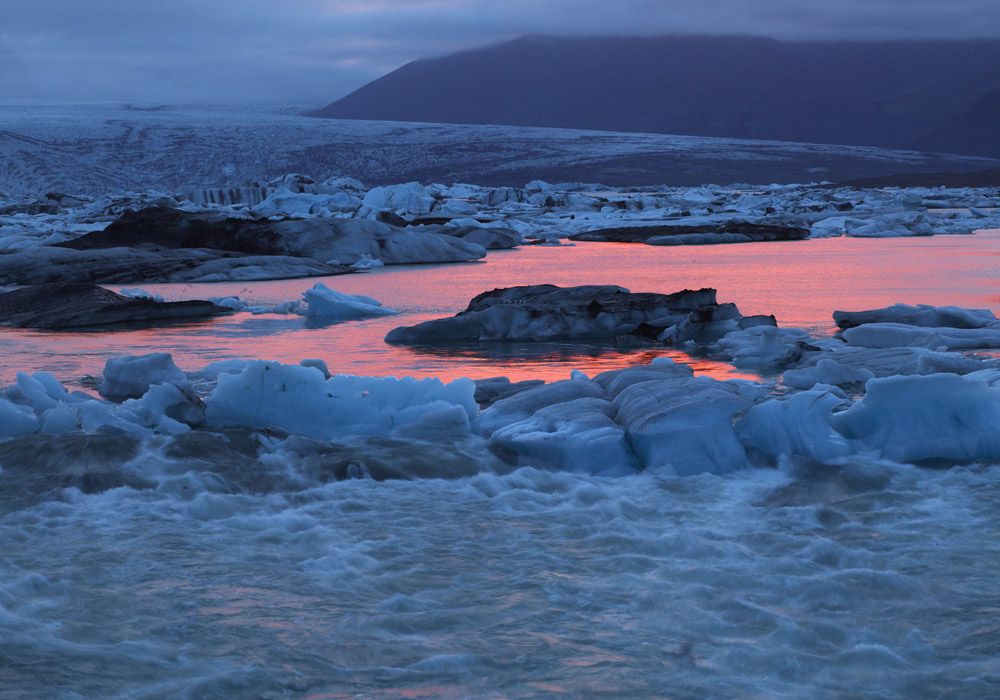 Glacial Iceberg Lagoon