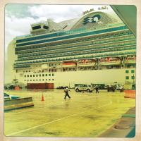 Iphone - Cruise Boat - Back View by woodmancy