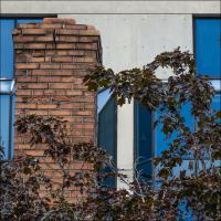 Pentax K5 18-135 Bricks And Glass by woodmancy