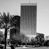 Ricoh Gr Tucson Tower With Person  1 Of 1 by woodmancy