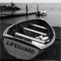 Ricoh Px - Life Guard Boat by woodmancy