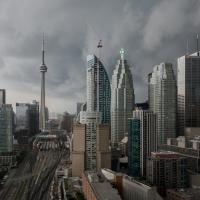 Sony Rx10 - Toronto Storm Warning  1 Of 1 by woodmancy