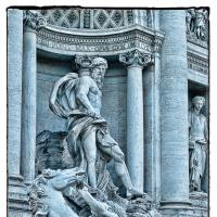 Trevi Fountainrome - At Dusk - Statue by woodmancy