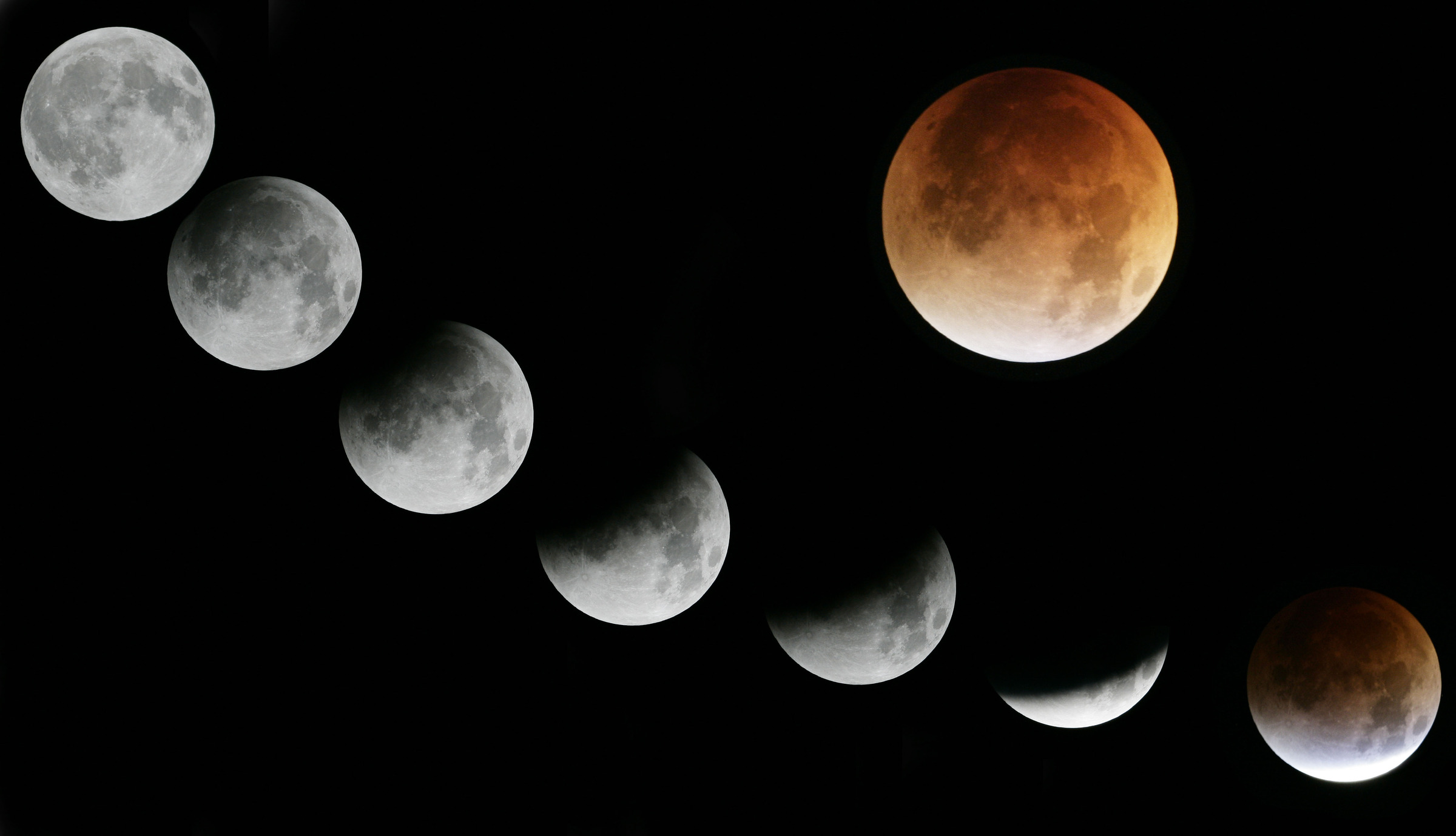 Lunar Eclipse Progress by John Grow in Regular Member Gallery