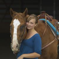Granddaughter And Her Horse by Shelby Frisch in Shelby Frisch