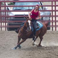 Granddaughter Riding by Shelby Frisch in Shelby Frisch