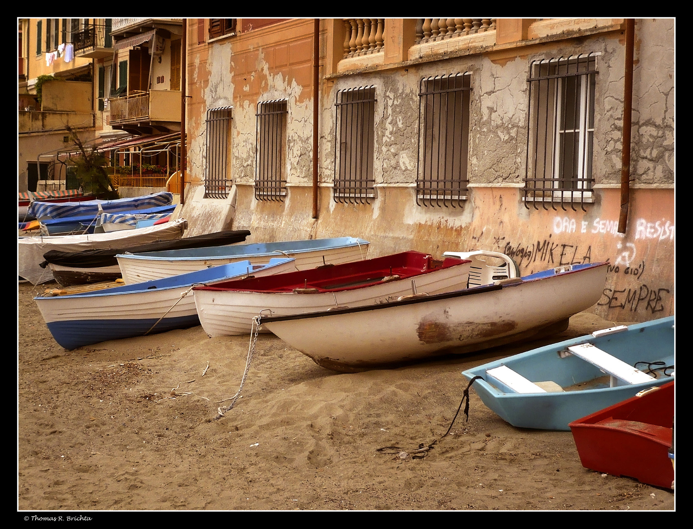 Boats On Sand