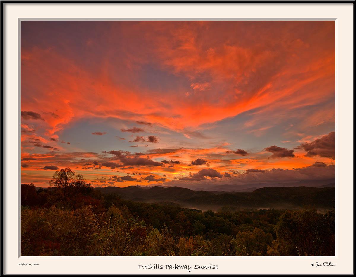 Foothills Parkway Sunrise by Joe Colson in Regular Member Gallery