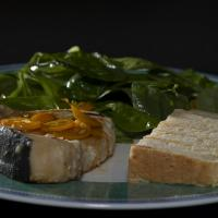 Grilled Swordfish. Kumquat Salsa And Kumquat Arugula Salad. Home-made Corn Bread. by engel001 in Regular Member Gallery