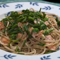 Smoked Salmon Spaghetti, Chives And Peas. by engel001 in Regular Member Gallery