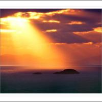 Sunset Over Harris Island by Ben Rubinstein