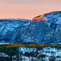 Decembersunset by Arne Hvaring in Arne Hvaring