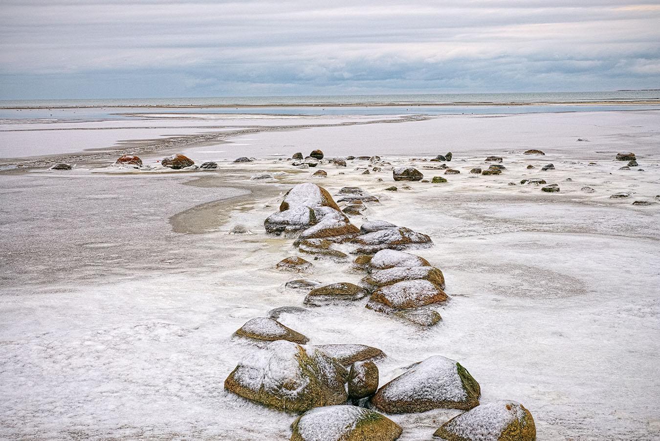Winter Beach by Arne Hvaring in Arne Hvaring