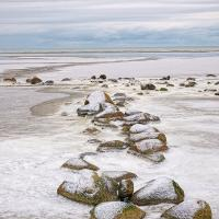 Winter Beach by Arne Hvaring