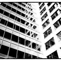 The Chevron Building in B&W by bensonga in bensonga