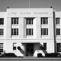 The Alaska Railroad Depot by bensonga in bensonga