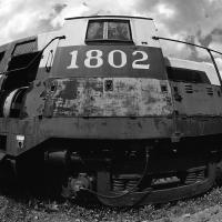 Alaska Rr Engine 1802 B&w by bensonga