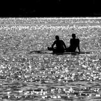 Sand Lake Paddle Boarders by bensonga in bensonga