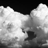 Big Clouds over the Chugach Mountains BW by bensonga