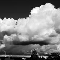 Big Clouds over Ship Creek Anchorage by bensonga