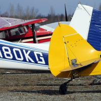 Planes at Birchwood, Alaska airport