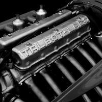 Talbot-Lago engine in B&W by bensonga in bensonga