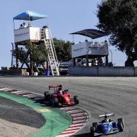 Indy Pro 2000 at top of Corkscrew