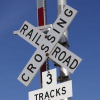AK RR Crossing Sign 3 Tracks by bensonga