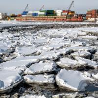 Ship Creek Ice Flow by bensonga in bensonga